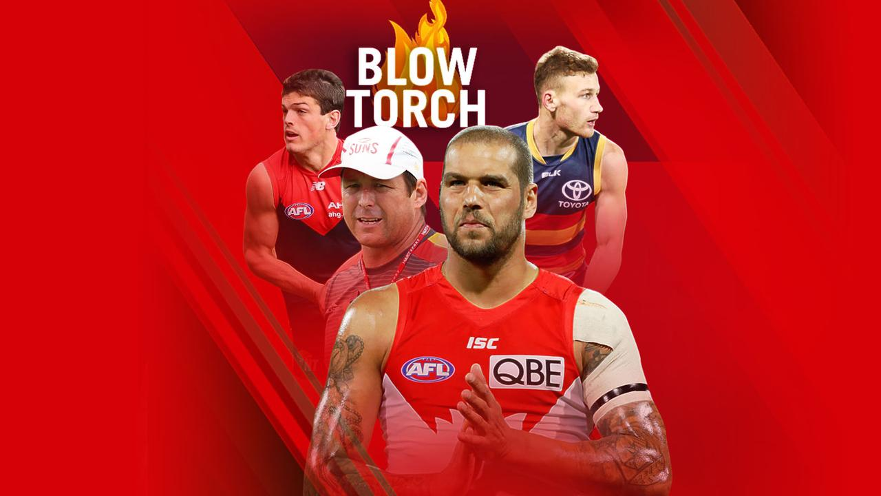 The Blowtorch: Angus Brayshaw, Stuart Dew, Lance Franklin and Rory Laird.