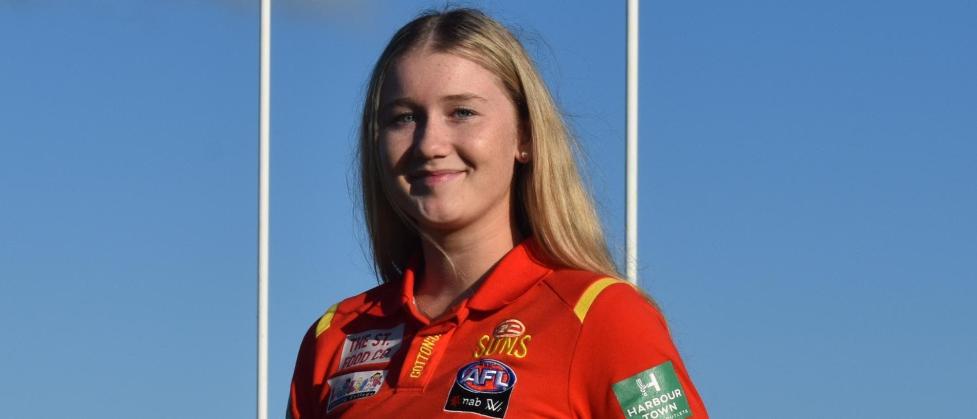 Wallis Randell from the Gold Coast Suns AFLW team in Mackay, September 6, 2021. Picture: Matthew Forrest