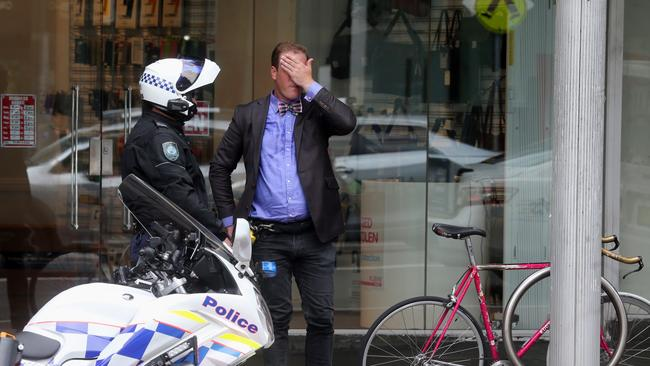 NSW Police are making the world a better place catching this ruthless criminal riding with no bike helmet.