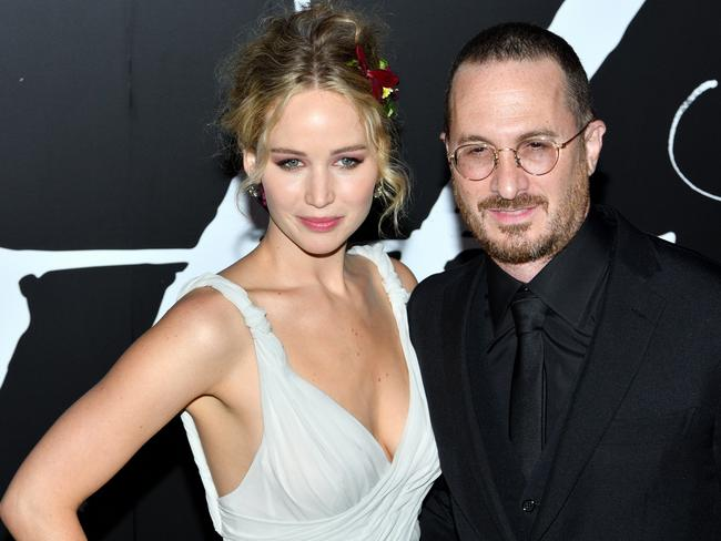 Jennifer Lawrence and director Darren Aronofsky. Picture: SIPA USA / Splash News Splash News