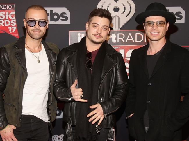 (L-R) Musicians Joey Lawrence, Andrew Lawrence, and Matthew Lawrence of The Lawrence Brothers. Picture: Getty
