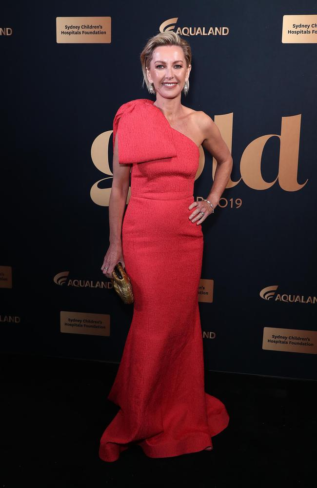 Deborah Knight looked incredible in a bright red dress.