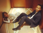 "Uh Oh, superstar couple Chrissy Teigen and hubby John Legend must have forgot their keys: ""Locked out"". Picture: Chrissy Teigen Instagram"