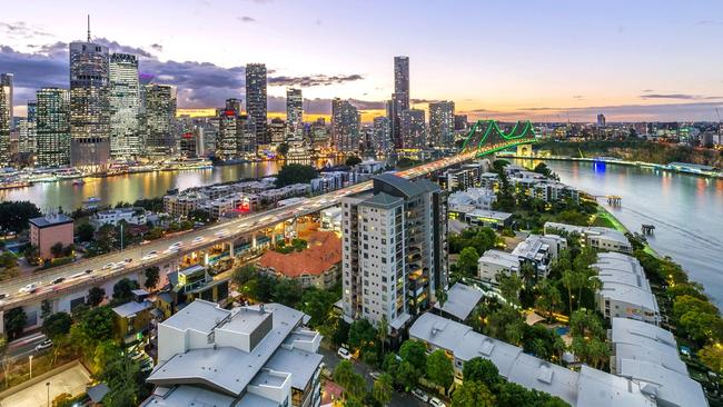 Kangaroo Point achieved the highest property price growth in the past year, according to CoreLogic.