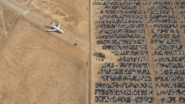 This aerial shot of the VW graveyard in the Mojave Desert took out top prize at 2018 National Geographic Photo Contest. Picture: Jassen Todorov.