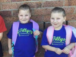 Twins Matylda and Scarlett, six, were pulled out of their burning home by firefighters but later died. Picture: Facebook. Picture: Facebook