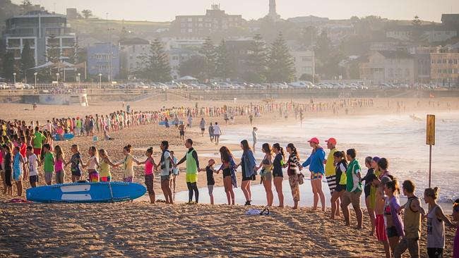 The OneWave support group on Sydney's Bondi Beach in March.
