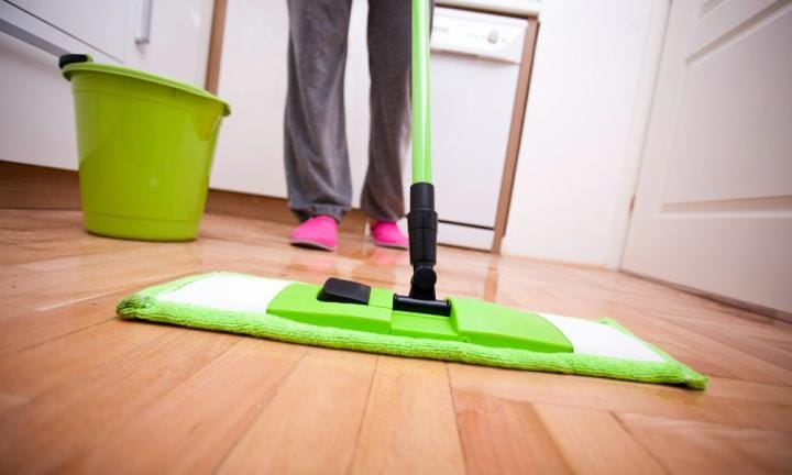 TO MOP THE FLOOR  <p>Mix water, ¼ cup of methylated spirits and a few drops of eucalyptus oil to mop the floor at home. </p>  <p>Our verdict? PASS! Cleaned the floors well, house was smelling nice and sooooo much cheaper than regular cleaning products!</p>