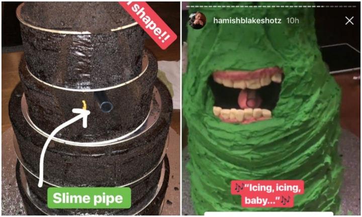 Hamish Blake Bakes Sonny A Slimer Cake Kidspot