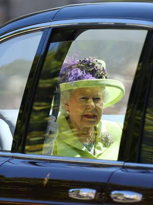 The Queen arrives. Picture: AFP