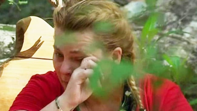 Ajay cries on I'm a Celebrity. Picture: Channel 10
