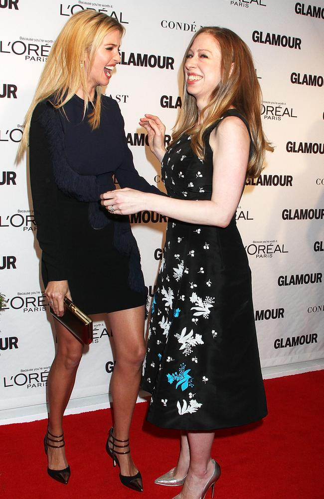 Ivanka Trump and Chelsea Clinton attend the 2014 Glamour Women Of The Year Awards at Carnegie Hall Picture: Laura Cavanaugh/FilmMagic.