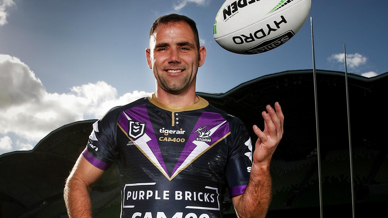 Cameron Smith of the Storm will play his 400th NRL game on Saturday.