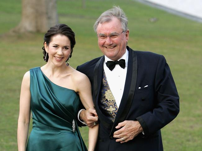 Princess Mary of Denmark and Prince Henrik of Denmark celebrate his 60th Birthday in 2006. Picture: Chris Jackson/Getty Images