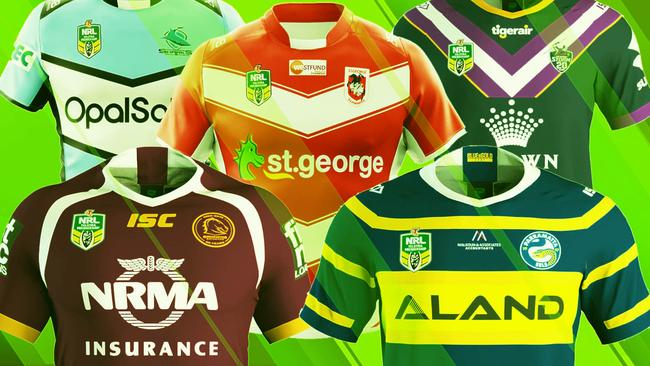 2018 NRL jerseys  Your club s home and away jersey designs  61cb624b7
