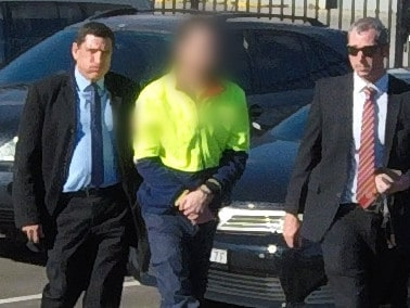 Strike force detectives arrested 32-year-old man Jamie Roy McKeay, outside a business at Chullora about 1pm on Friday 21 June 2019. Picture: NSW Police