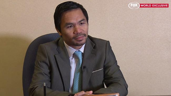 Manny Pacquiao has granted Fox Sprts News 500 a world exclusive.
