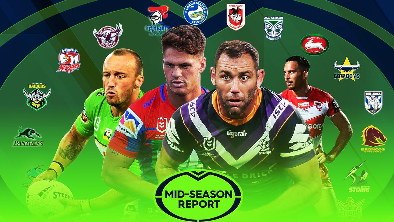 The NRL mid-season card has thrown up some huge question marks.