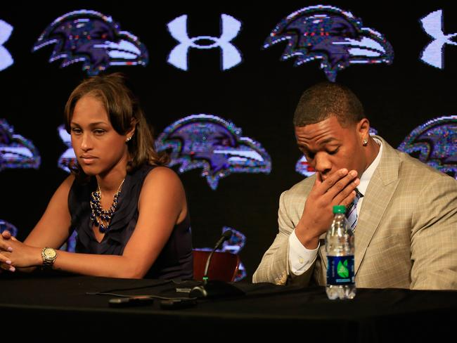 Ray Rice and his now-wife, Janay.