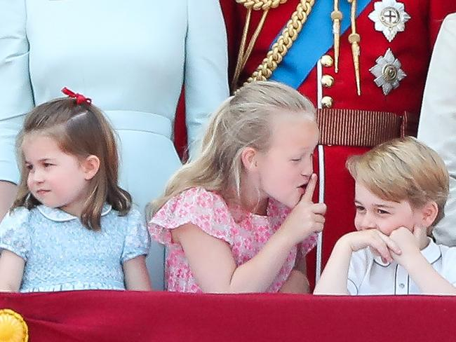 Savannah Phillips will have ample opportunity to tease her cousin, Prince George, on the big day. Picture: AFP