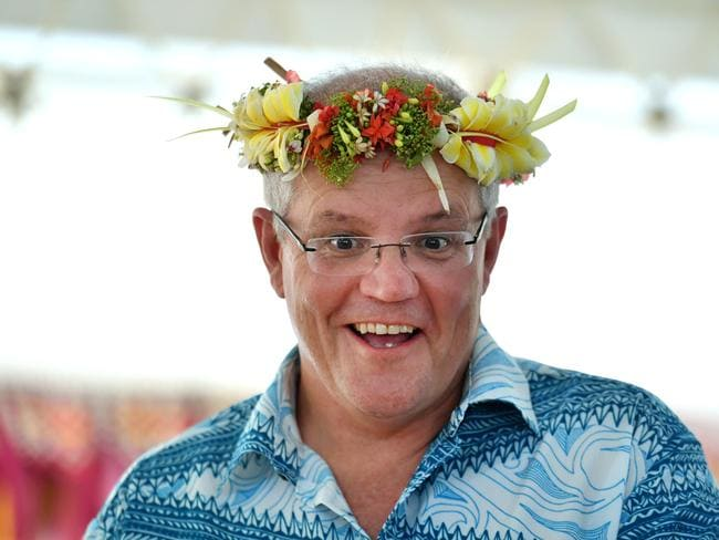 Prime Minister Scott Morrison was criticised by other leaders for his approach to climate change. Picture: Mick Tsikas.
