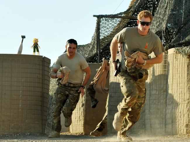 Prince Harry, pictured in Afghanistan in 2012, spent almost a decade in the army, before leaving the service in 2015. Picture: AFP/John Stillwell