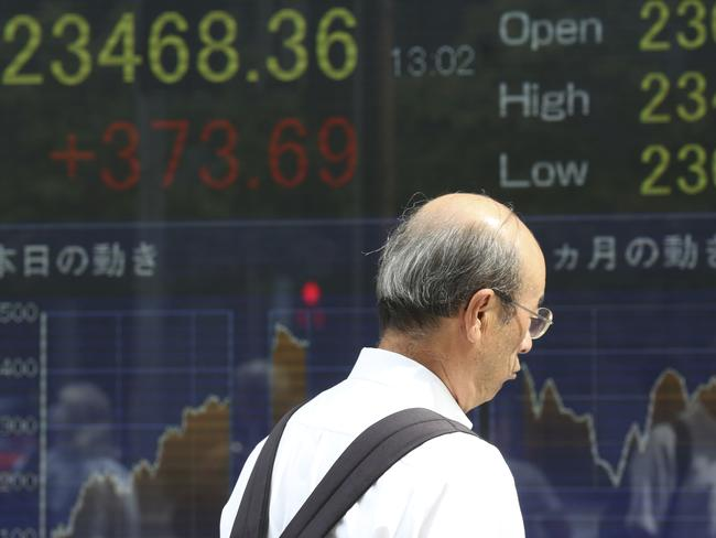 Asian markets were mixed on Tuesday after Donald Trump ordered tariffs on $200 billion more in Chinese goods, ramping up tensions between the world's top two economies. Picture: AP