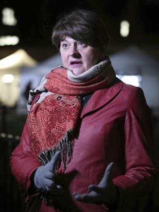 Democratic Unionist Party leader Arlene Foster. Picture: Yui Mok/PA via AP