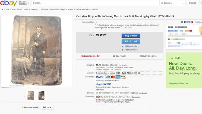 The eBay listing that made Justin Whiting a potential millionaire. Picture: SWNS/Mega