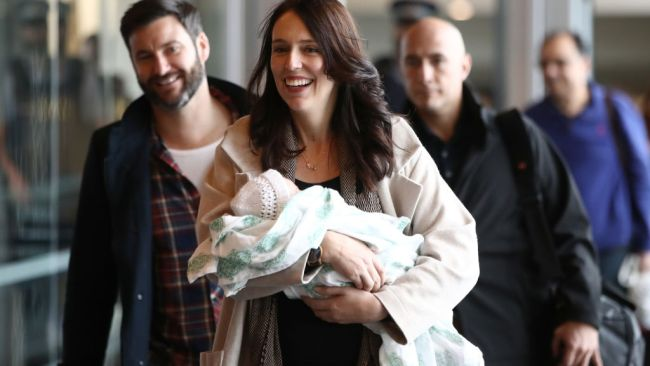 Jacinda is only the second world leader to give birth during office. Picture: Hannah Peters. Source: Getty Images