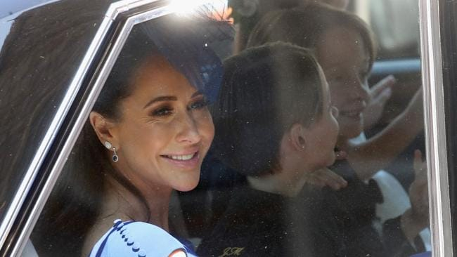 Canadian fashion stylist Jessica Mulroney arrives at the wedding. Picture: Getty