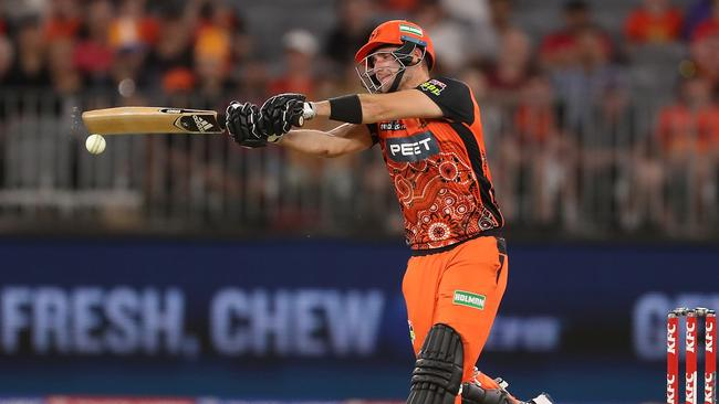 Liam Livingstone was in red-hot form for the Scorchers. Picture: Getty Images