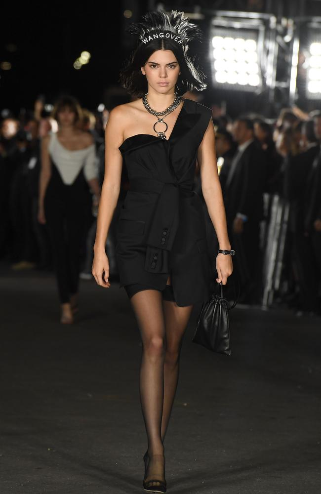 Kendall Jenner wore all-black Alexander Wang.