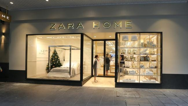 retail giant zara home stretches wings down under with second shop and online presence daily. Black Bedroom Furniture Sets. Home Design Ideas
