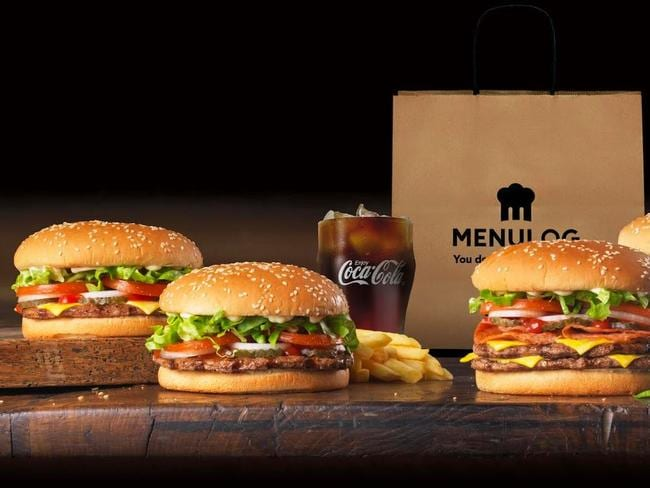 Hungry Jack's is joining up with Menulog to deliver online delivery across Australia. Picture: Supplied