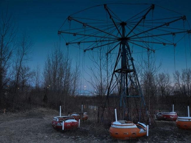 The photographer even found completely abandoned theme parks, with rides left standing amid an isolated forest. Picture: Seph Lawless