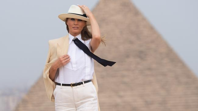 Melania Trump has just wrapped up a major visit to Africa. Picture: AFP