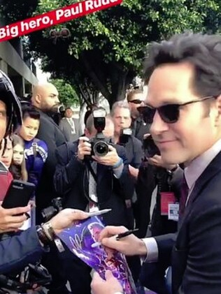 Ant Man Paul Rudd greets his fans. Picture: Instagram