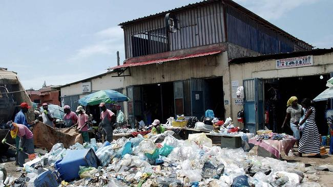 Garbage piles up in Angola's capital, Luanda, where 30 per cent of the population live in poverty. Picture: Agence France-Presse/Getty Images