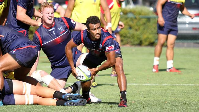 Will Genia at training with Melbourne Rebels. Picture: Chris Gottaas