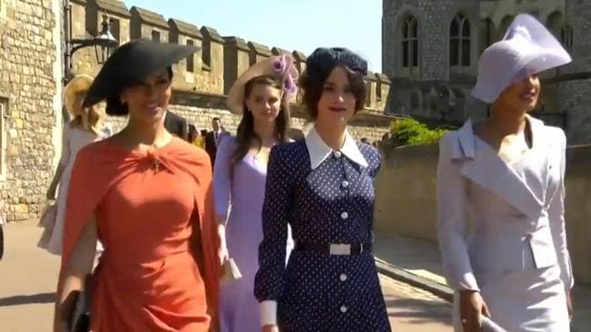 Janina Gavankar, Abigail Spencer and Priyanka Chopra arrive at Prince Harry and Meghan Markle's Wedding. Picture: Supplied