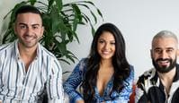 Gogglebox favourites, Matty, Sarah Marie and Jad. Picture: Supplied/Foxtel