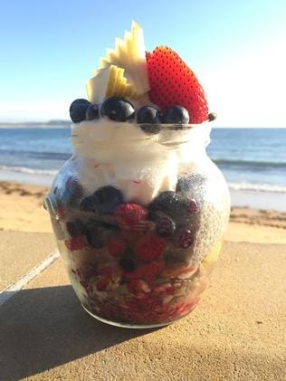 Bella breakfast jar at Terrigal.