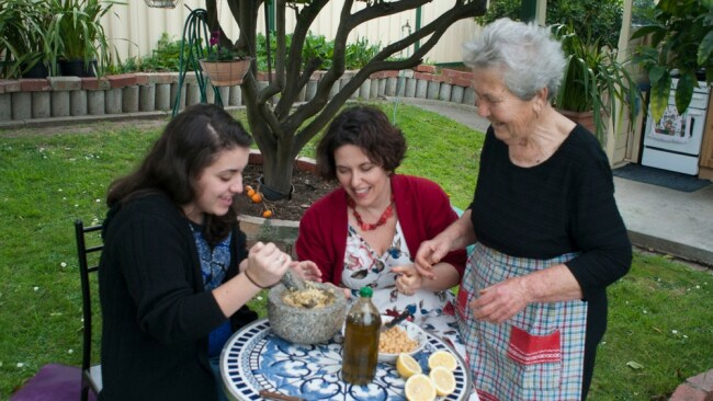 The author with her mother and daughter. Photo: Supplied