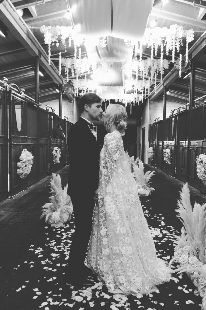 b463f56fb36 Watch Kaley Cuoco s wedding video and try not to cry during her vows. Kaley  Cuoco and Karl Cook ...
