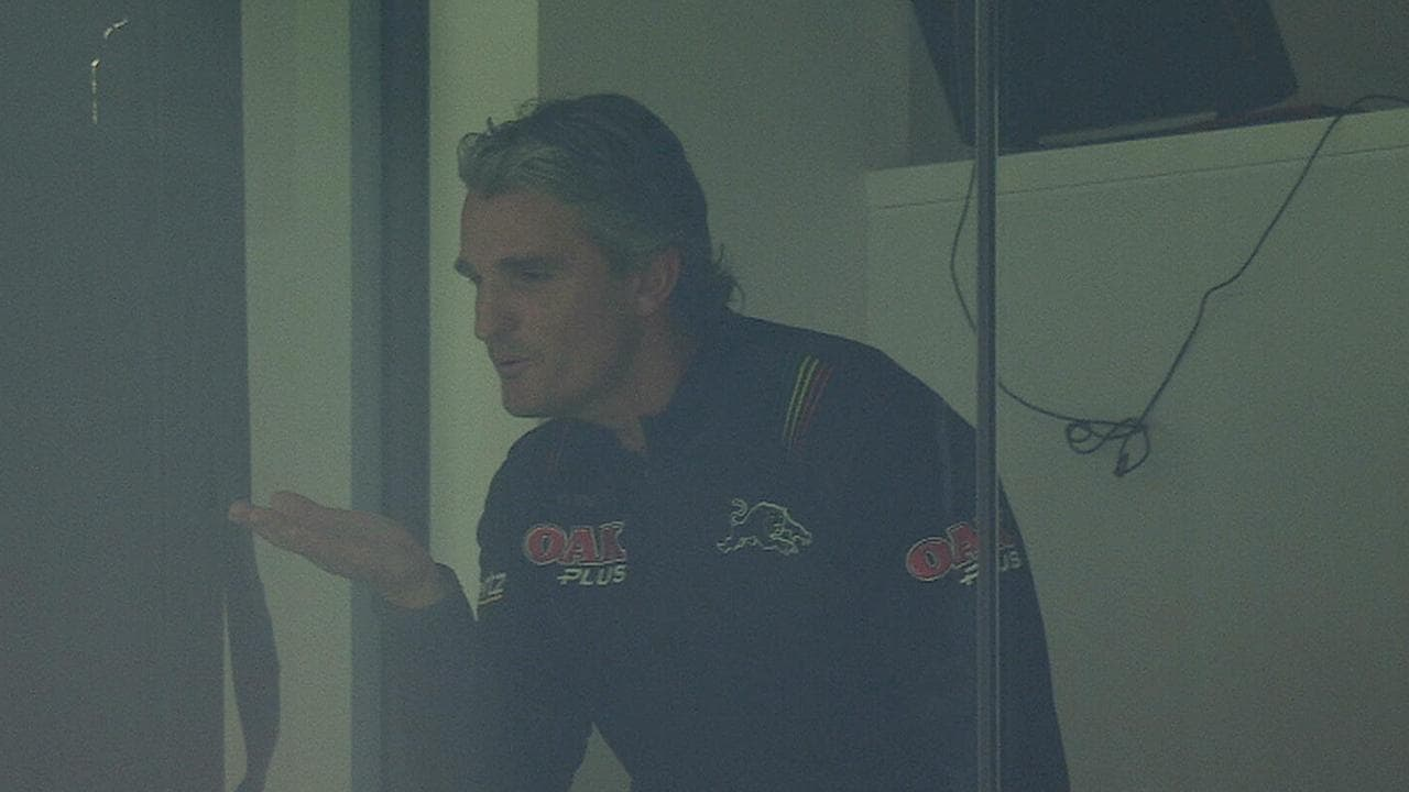 Ivan Cleary blows a kiss towards the Tigers fans