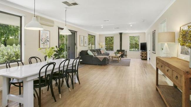 The large open-plan living area.
