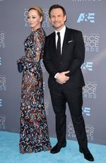 Portia Doubleday and Christian Slater attend the 21st Annual Critics' Choice Awards on January 17, 2016 in California. Picture: AP