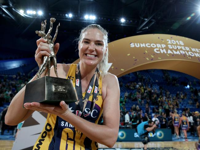 Caitlin Bassett was the star of the show for the Sunshine Coast. Picture: AAP