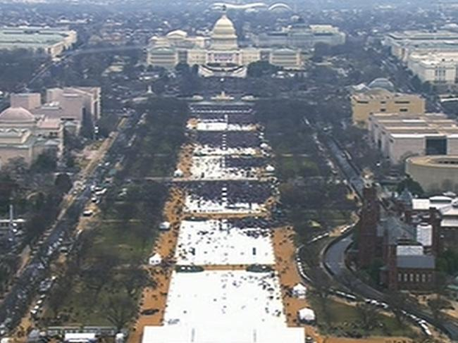 The inauguration on January 20, 2017 caused controversy at the time because of an argument about crowd size, but the implications of the criminal inquiry could be far more serious. Picture: AP Photo